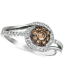 Le Vian Chocolatier® Diamond Swirl Ring (1/2 ct. t.w.) in 14k White Gold