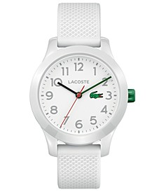 Kids' 12.12 White Silicone Strap Watch 32mm