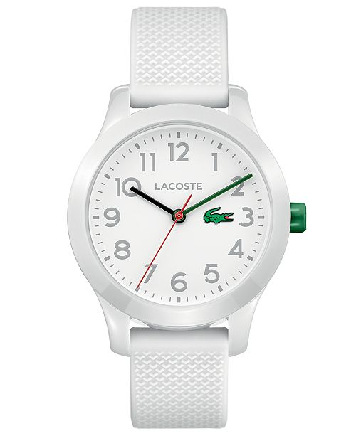 Lacoste Kids' 12.12 White Silicone Strap Watch 32mm