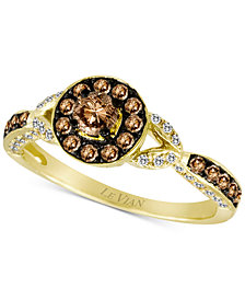 Le Vian Chocolatier® Diamond Halo Ring (5/8 ct. t.w.) in 14k Gold
