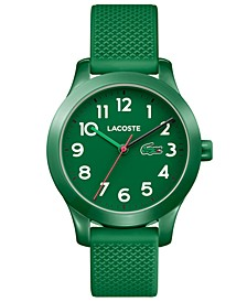 Kids' 12.12 Green Silicone Strap Watch 32mm