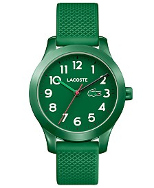Lacoste Kids' 12.12 Green Silicone Strap Watch 32mm