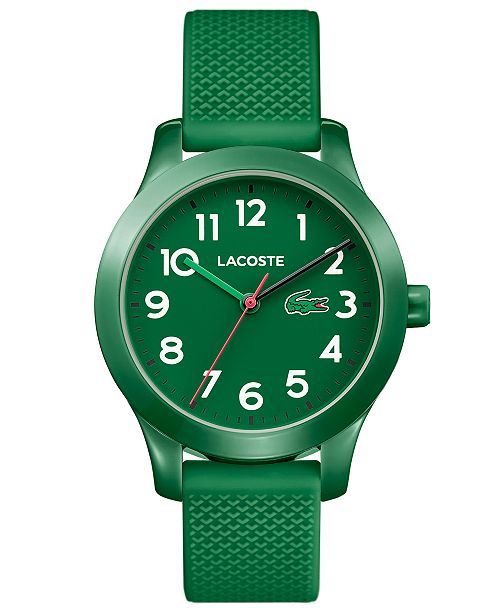 adce7ee7 Lacoste Kids' 12.12 Green Silicone Strap Watch 32mm & Reviews ...