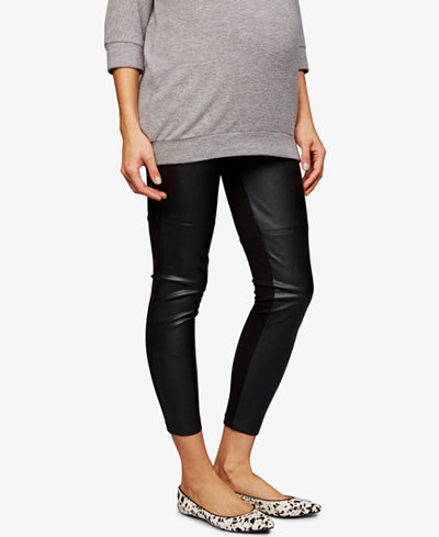 A Pea In The Pod Maternity Faux-Leather Skinny Pants