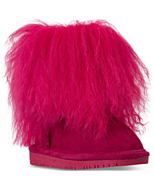 Bearpaw Toddler Girls' Boo Fur Boots from Finish Line