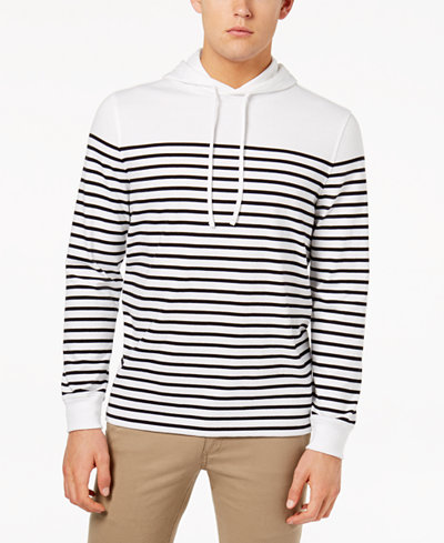 Club Room Men's Stripe Pullover Hoodie, Created for Macy's