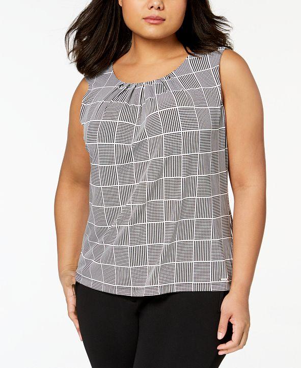 Calvin Klein Plus Size Pleated Top