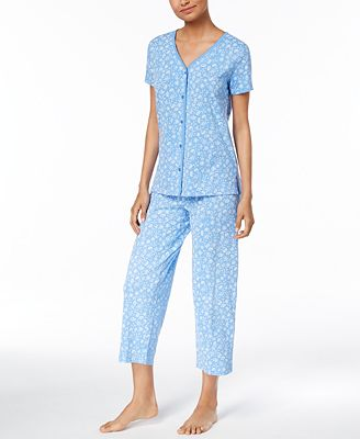 Charter Club Picot-Trimmed Cotton Pajama Set, Created for Macy's