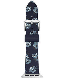 kate spade new york Women's Blue Floral Silicone Apple Watch® Strap