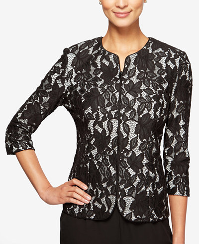 Alex Evenings Petite Lace Jacket