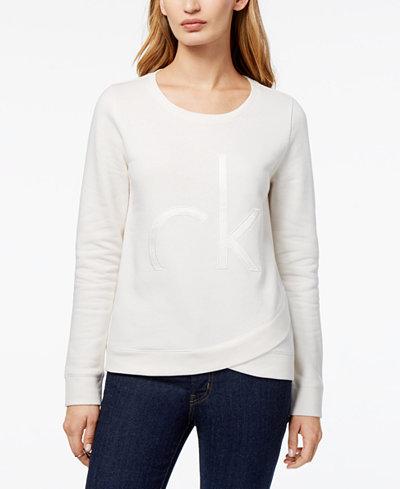 Calvin Klein Jeans Tulip-Hem Sweatshirt