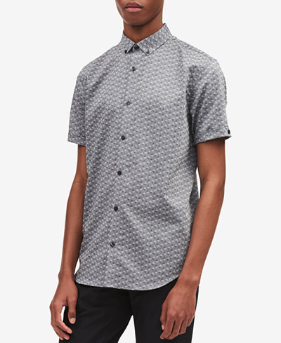 Calvin Klein Men's Triangle Jacquard Shirt