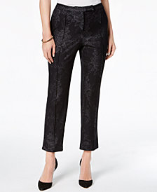 NY Collection Petite Printed Extended-Tab Pants