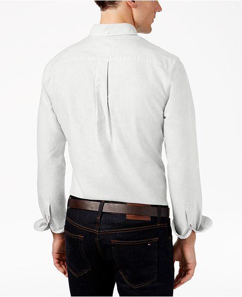 ef9c29a4e9f1 Tommy Hilfiger Men s Custom Fit New England Solid Oxford Shirt ...