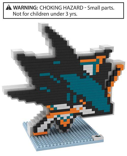 Forever Collectibles San Jose Sharks BRXLZ 3D Logo Puzzle
