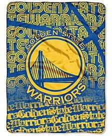Golden State Warriors Micro Raschel 46 x 60 Redux Blanket