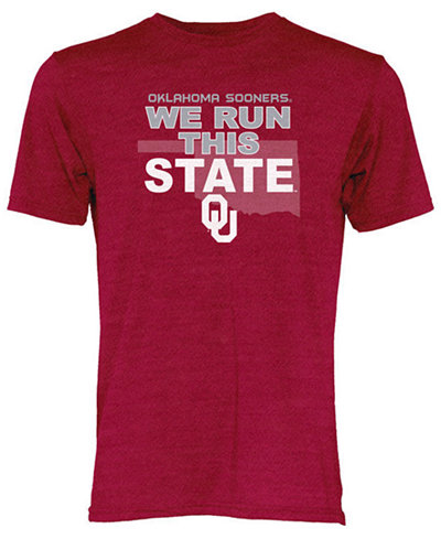 Blue 84 Men's Oklahoma Sooners We Run This State Tri-Blend T-Shirt