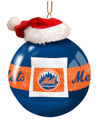 Memory Company New York Mets Glass Santa Belt Ornament  Sports
