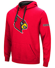 Colosseum Men's Louisville Cardinals Big Logo Hoodie