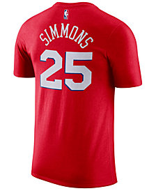 Nike Men's Ben Simmons Philadelphia 76ers Name & Number Player T-Shirt