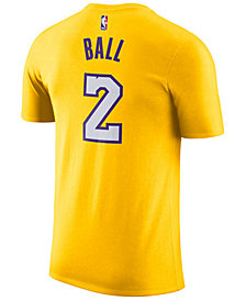 Nike Men's Lonzo Ball Los Angeles Lakers Name & Number Player T-Shirt