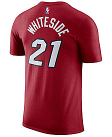 Nike Men's Hassan Whiteside Miami Heat Name & Number Player T-Shirt