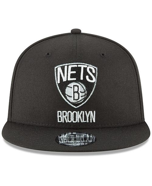 official photos b430f a0471 ... clearance new era. brooklyn nets team metallic 9fifty snapback cap. be  the first to