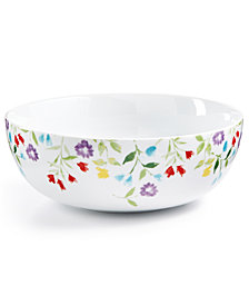 CLOSEOUT! Martha Stewart Collection Floral Vegetable Bowl