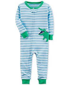 Carter's Alligator Stripe Cotton Pajamas, Baby Boys