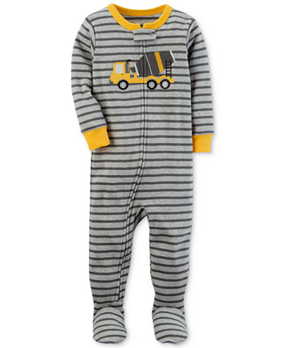Carter's Digger Stripe-Print Pajamas, Baby Boys