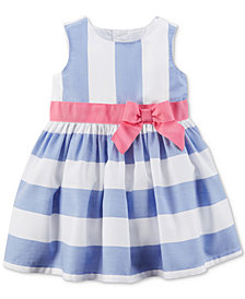 Carter's Blue Stripe Dress, Baby Girls