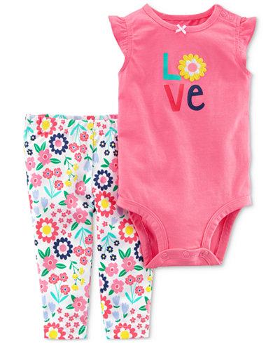 Carter's 2-Pc. LOVE Cotton Bodysuit & Pants Set, Baby Boys