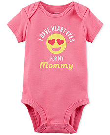 Carter's Heart Eyes For My Mommy Graphic-Print Cotton Bodysuit, Baby Girls
