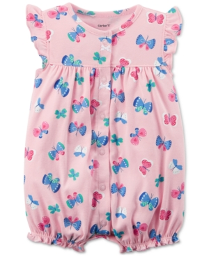 Carters ButterflyPrint Cotton Romper Baby Girls (024 months)