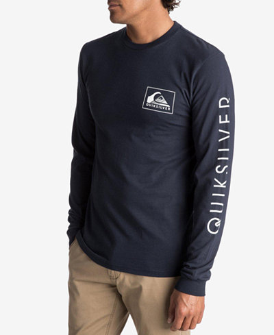 Quiksilver Men's Hold Down Logo Long-Sleeve T-Shirt - T-Shirts ...