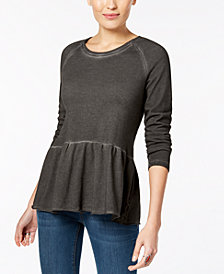 Style & Co Peplum Flounce Top, Created for Macy's