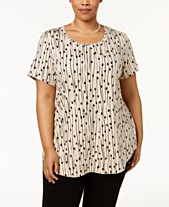 10f7c7ca9cd JM Collection Plus Size Printed T-Shirt