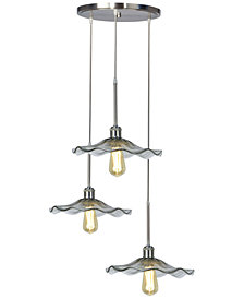 Dale Tiffany Indonesia 3-Light LED Art Glass Hanging Fixture