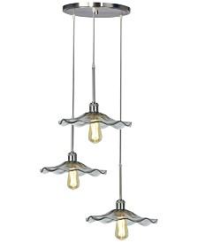 Dale Tiffany Indonesia 3-Light LED Art Glass Hanging Fixture