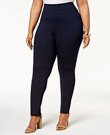 Tommy Hilfiger Plus Size Pull-On Ponté-Knit Pants, Created for Macy's