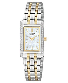 Women's Two Tone Stainless Steel Bracelet Watch 19mm EK1124-54D