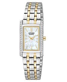 Women's Two Tone Stainless Steel Bracelet Watch 19mm EK1124-54D