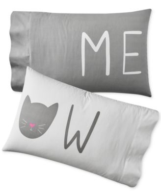 Set of 2 Paired Pillowcases, Created for Macy's
