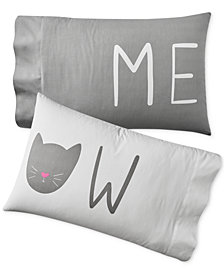 Whim by Martha Stewart Collection Set of 2 Paired Pillowcases, Created for Macy's