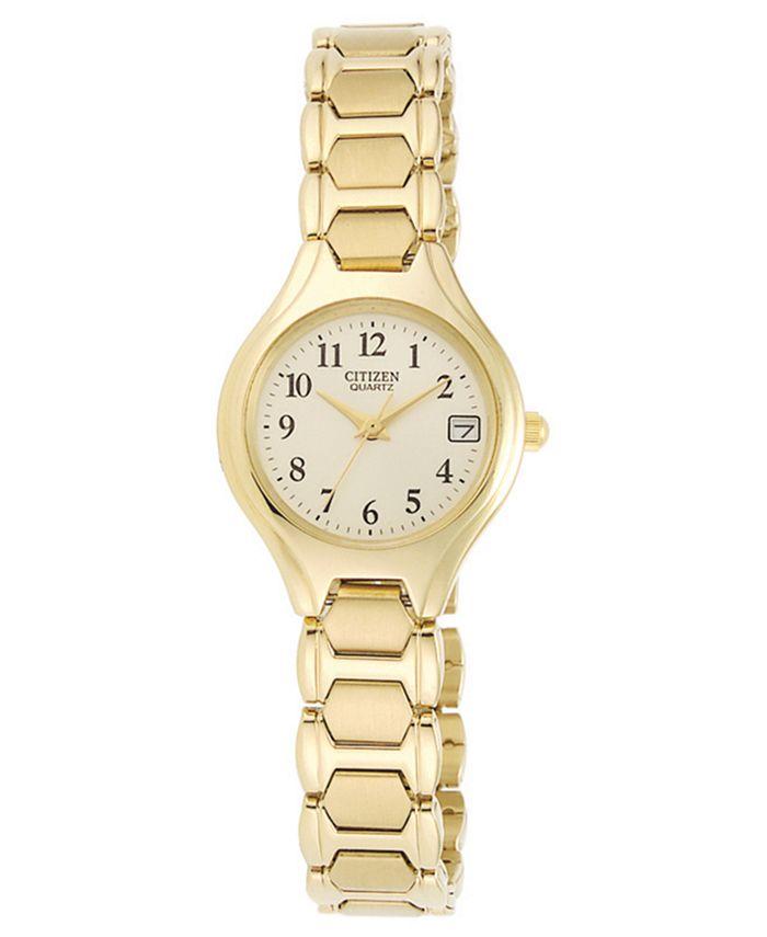 Citizen - Women's Gold-Tone Stainless Steel Bracelet Watch 23mm EU2252-56P