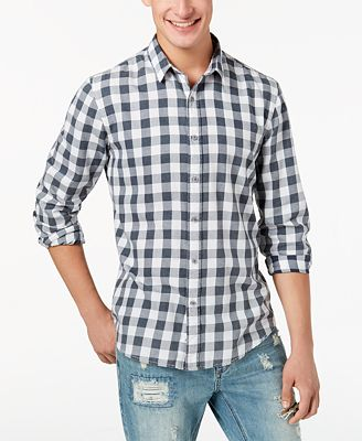 American Rag Men's Banarama Check Shirt, Created for Macy's