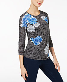 I.N.C. Petite Floral-Print Top, Created for Macy's