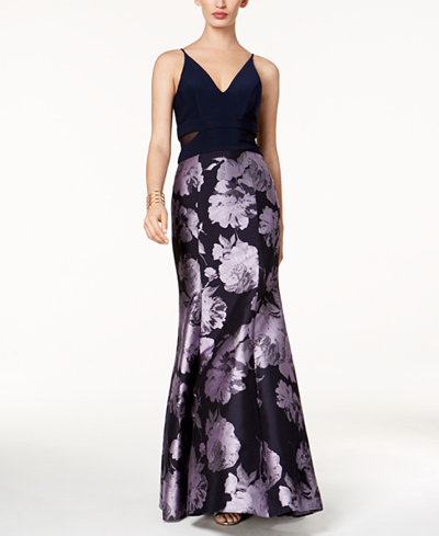 Xscape Brocade Mermaid Gown