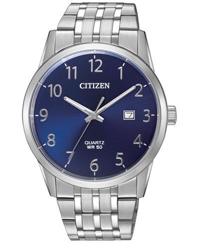 Citizen Men's Stainless Steel Bracelet Watch 39mm