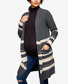 A Pea In The Pod Maternity Striped Open-Front Cardigan